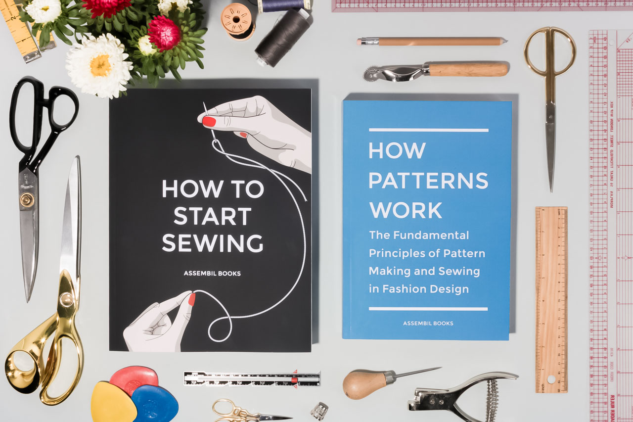 Assembil How To Start Sewing and How Patterns Work plus supplies