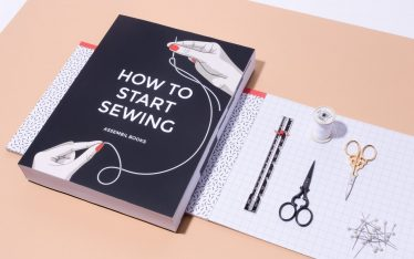 How To Start Sewing book Assembil.