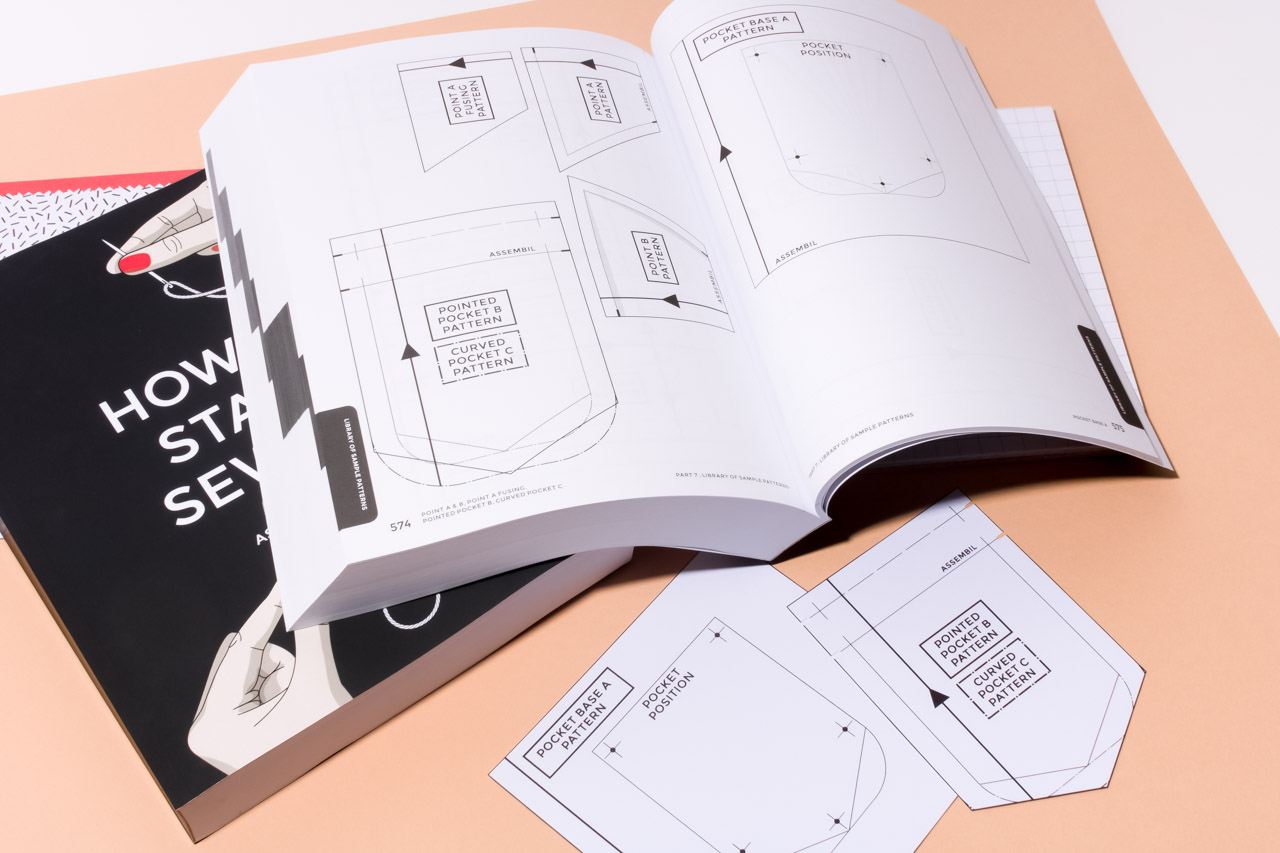 Assembil Blog: Creating a Sewing Reference Folder. Patterns can be traced from the back of the How To Start Sewing book.