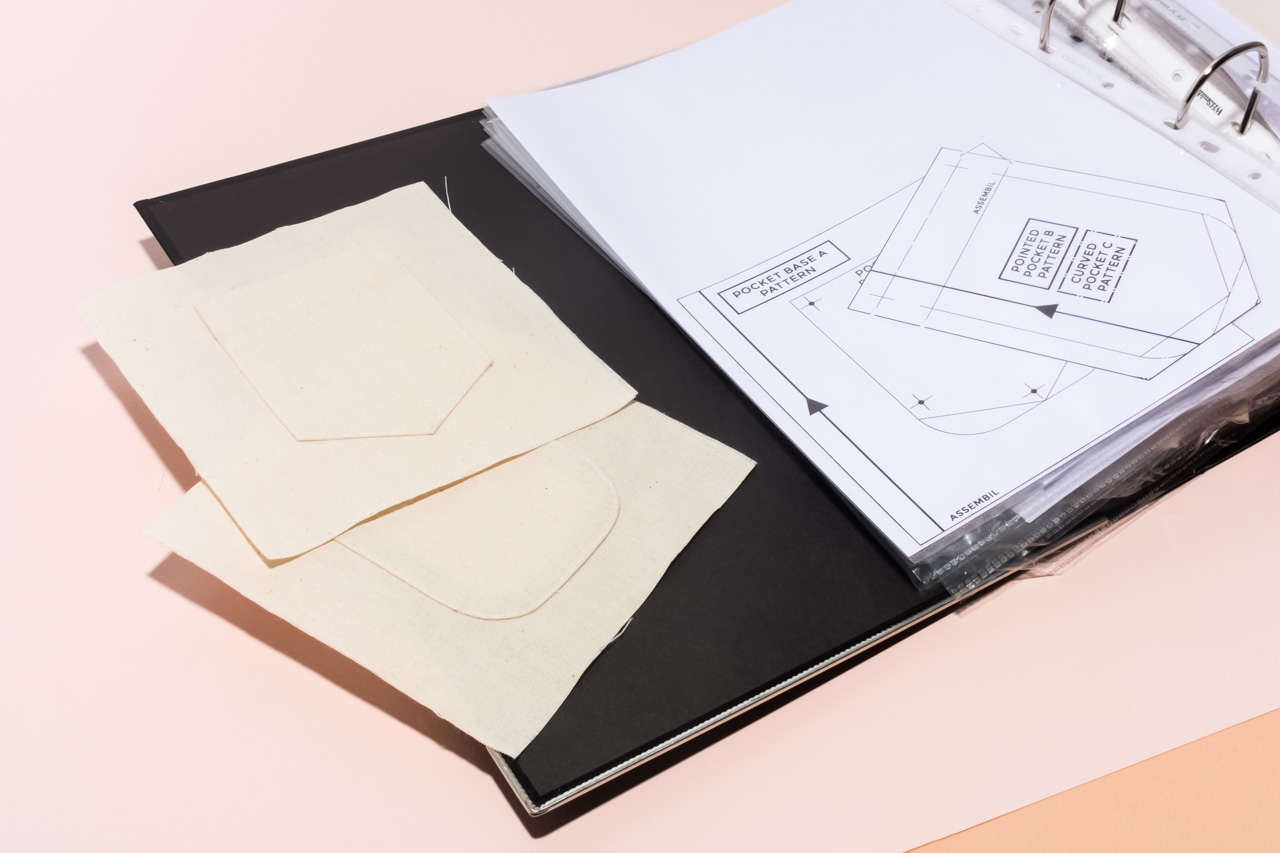 Assembil Blog: Creating a Sewing Reference Folder. Store you samples in a ring binder for future reference.