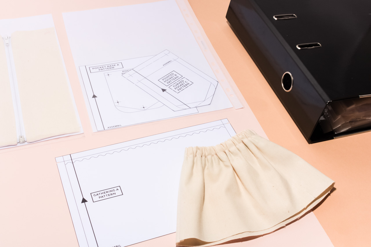 Assembil Blog: Creating a Sewing Reference Folder. Use a ring binder and plastic sleeves to store samples and notes.