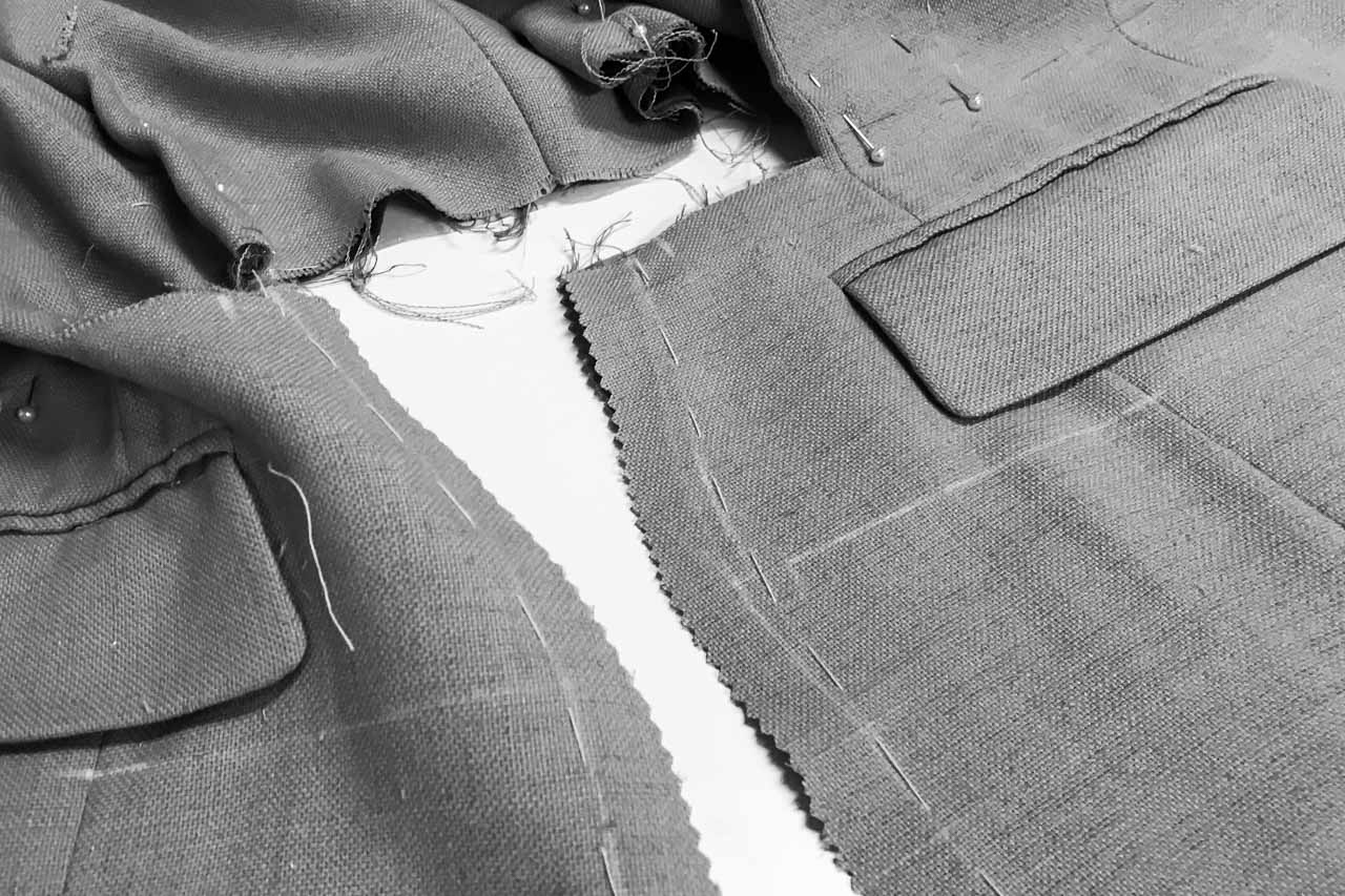 Assembil Blog: The Refashioners 2017 Suits You. Process Images. Marking and sewing the back seams.