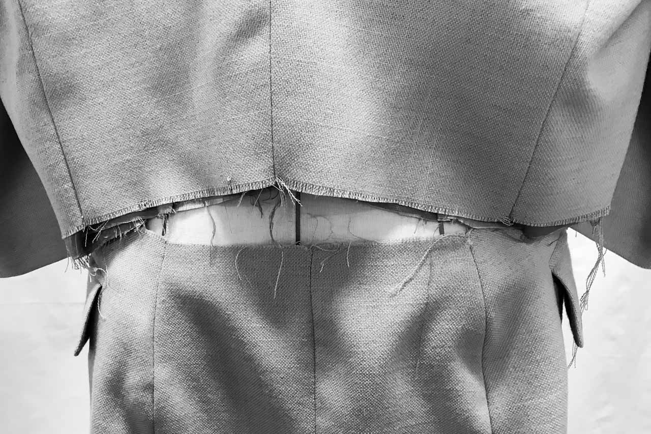 Assembil Blog: The Refashioners 2017 Suits You. Process Images. Closing up the back seam.