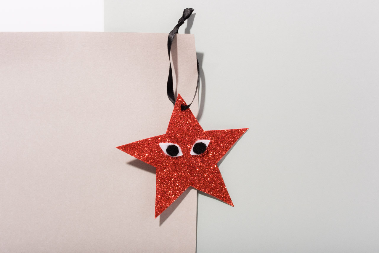 Assembil Blog: Fashion Baubles 2017. Playful Star Decorations. Single star.