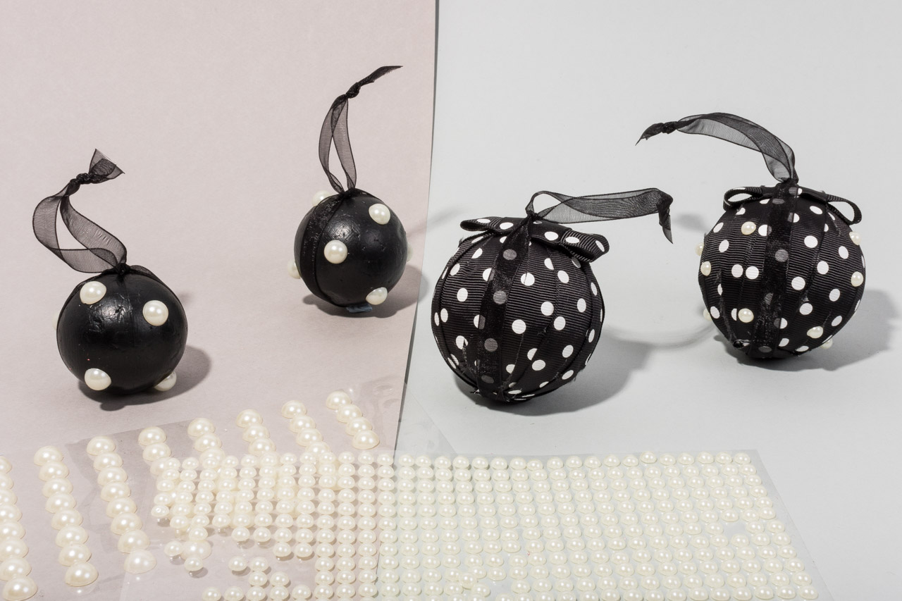 Assembil Blog: Fashion Baubles 2017. Polka Dots. Add adhesive pearls.