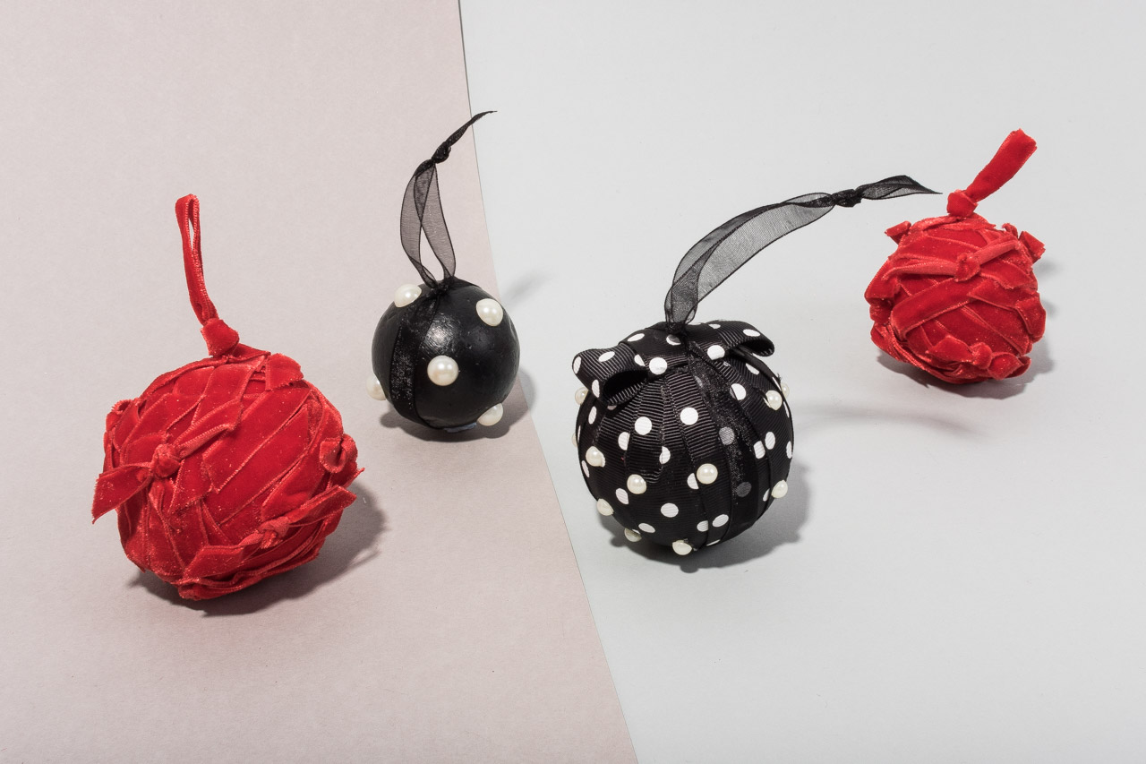 Assembil Blog: Fashion Baubles 2017. Ribbon Baubles.