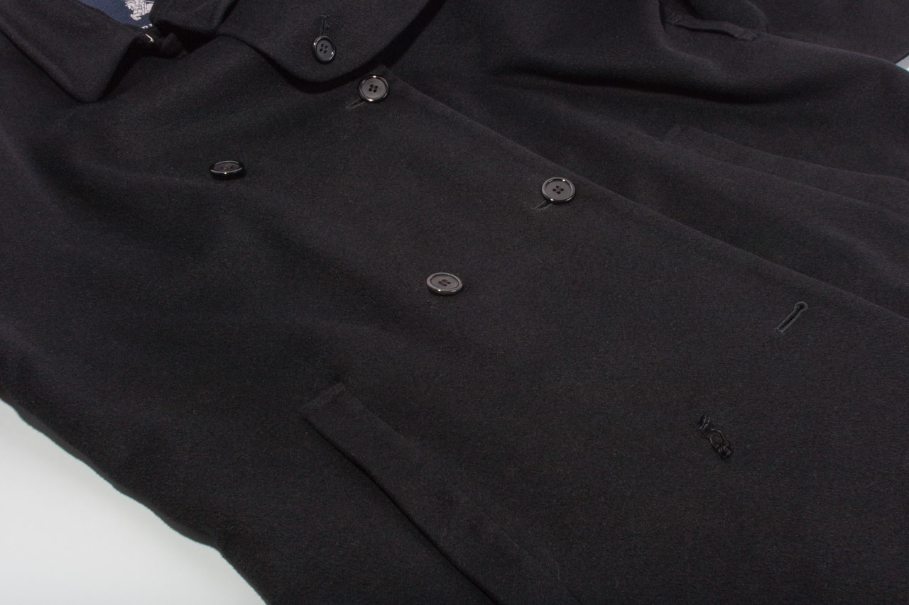 Assembil Blog: Repair Coat Buttons. Coat front with missing button.