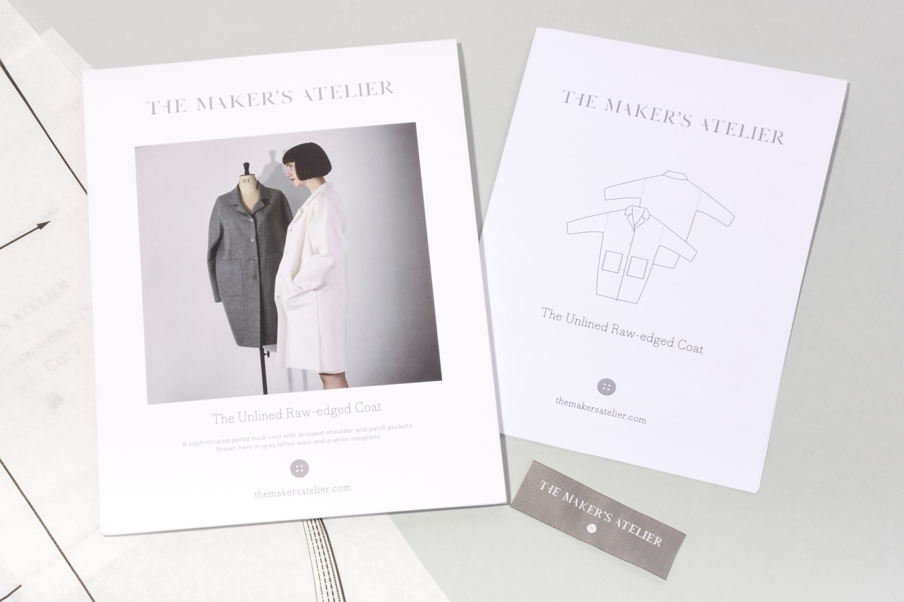 Assembil Blog: The Maker's Atelier Raw Edged Coat pattern. Pattern envelope and instructions, image 3.