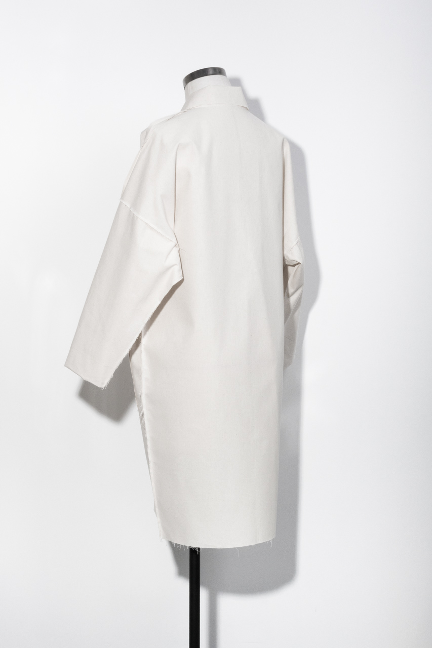 Assembil Blog: The Maker's Atelier Raw Edged Coat Pattern and Toile No. 1. Toile view back.