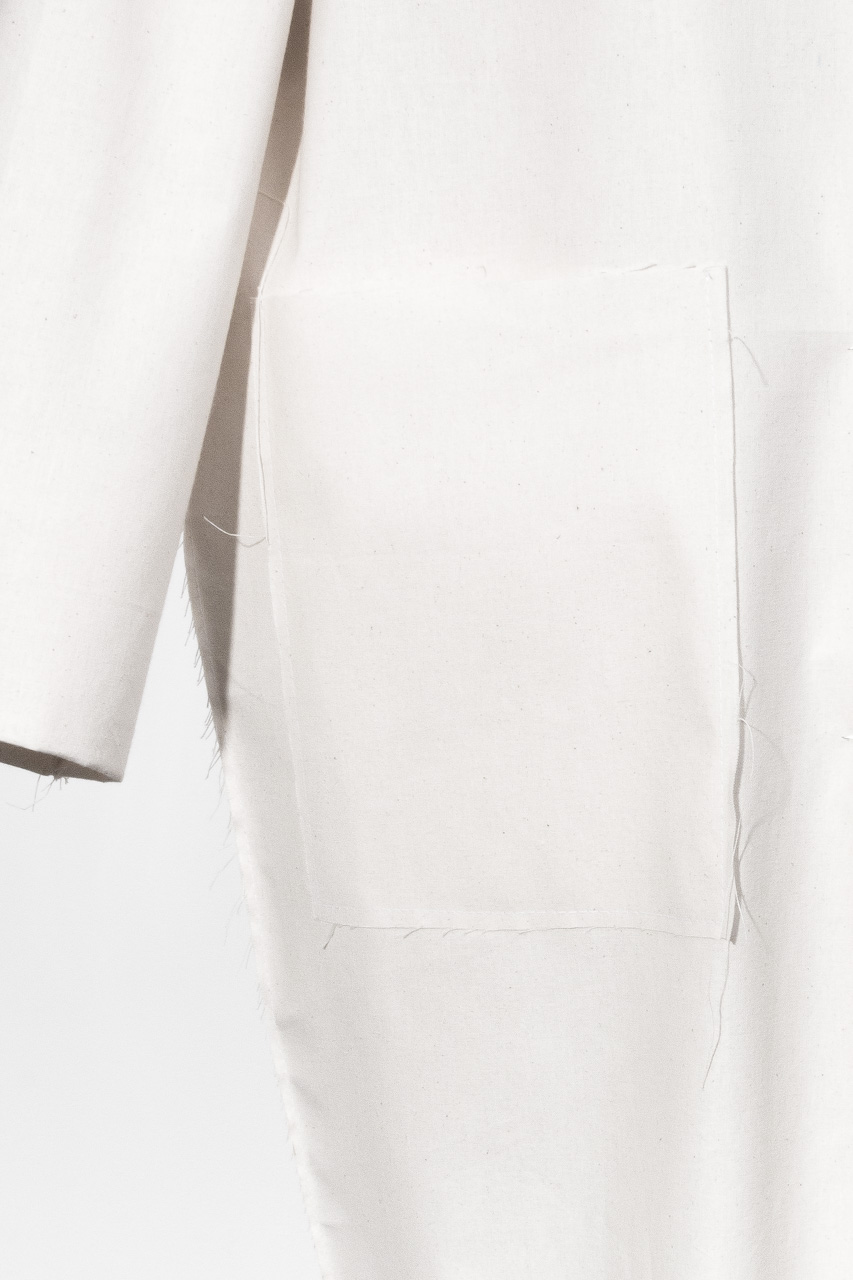 Assembil Blog: The Maker's Atelier Raw Edged Coat Pattern and Toile No. 1. Toile view detail 3.