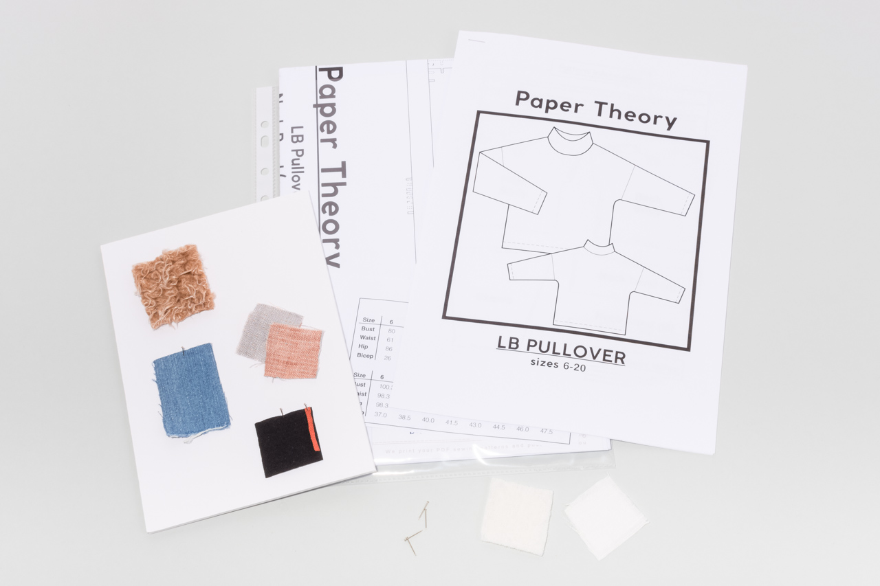 Assembil Blog: Mood Board 1. Paper Theory pattern with fabric swatches.