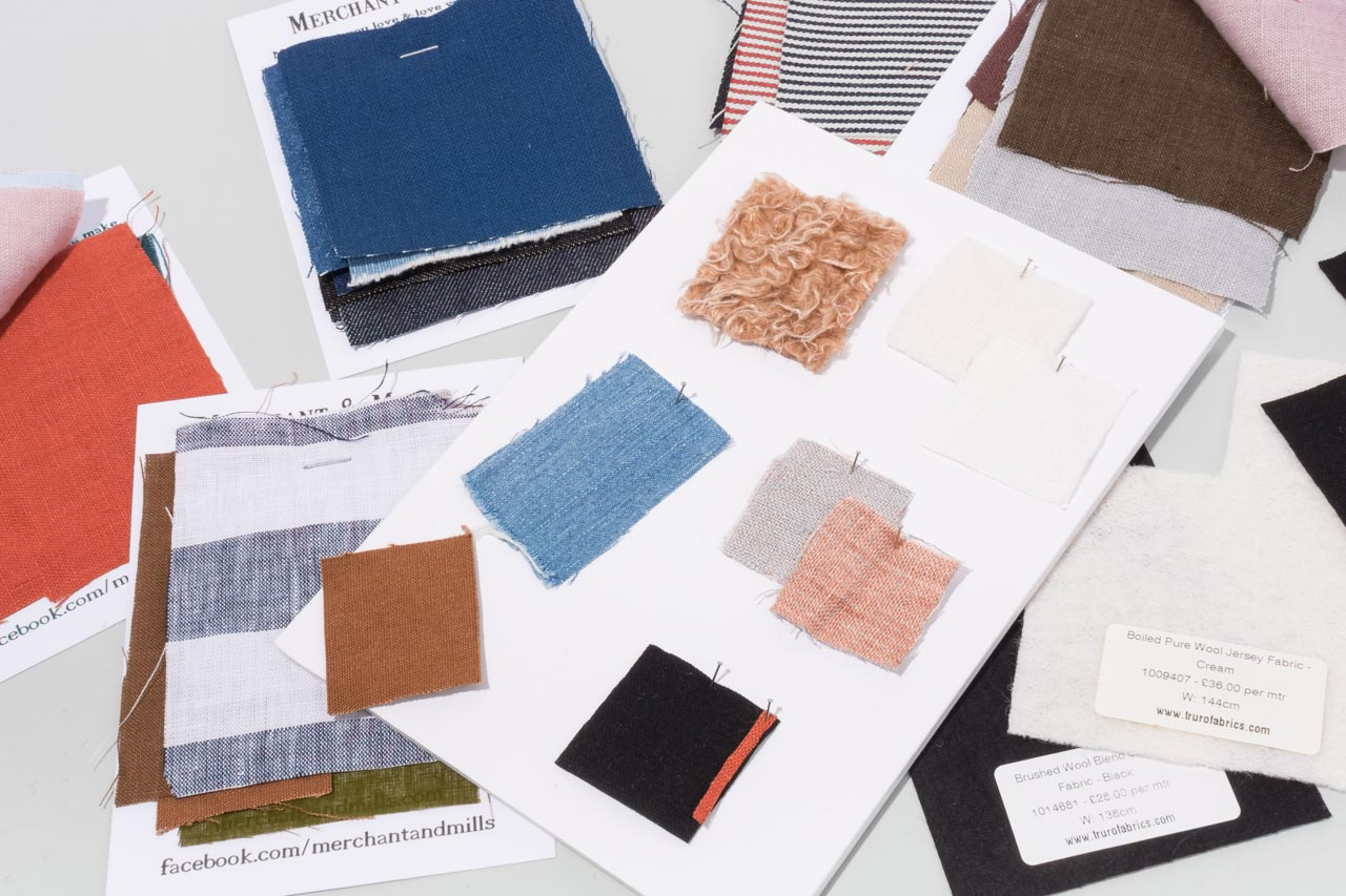 Assembil Blog: Mood Board 1. Fabric swatches, Image 1.