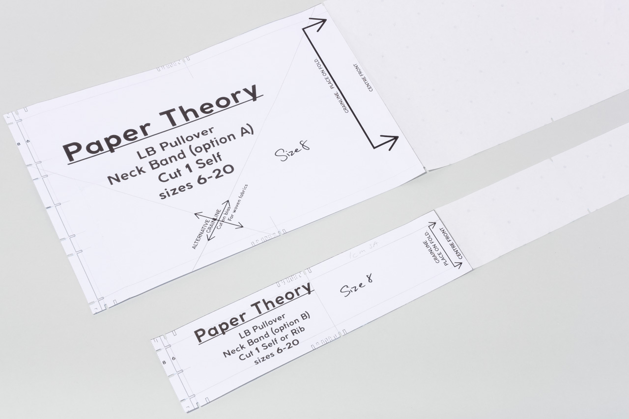 Assembil Blog: The Paper Theory LB Pullover pattern. Patterns for bands.