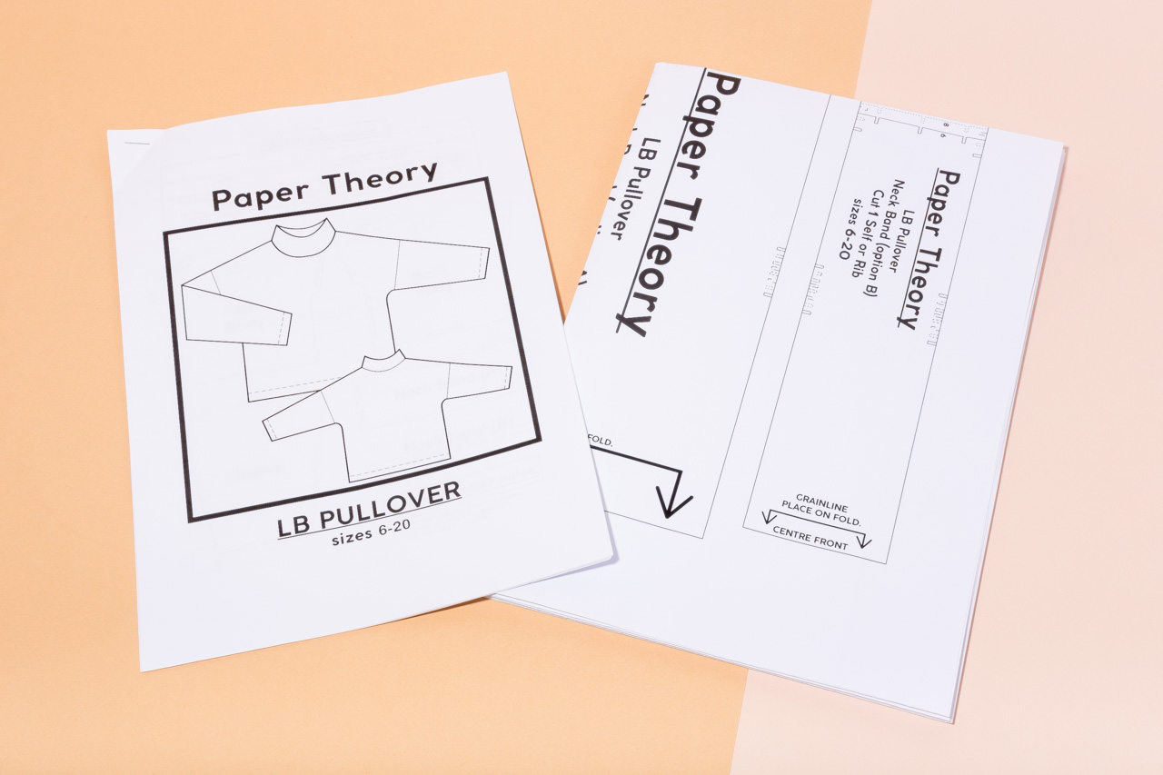Assembil Blog: The Paper Theory LB Pullover pattern. Printed pattern and instructions, image 3.