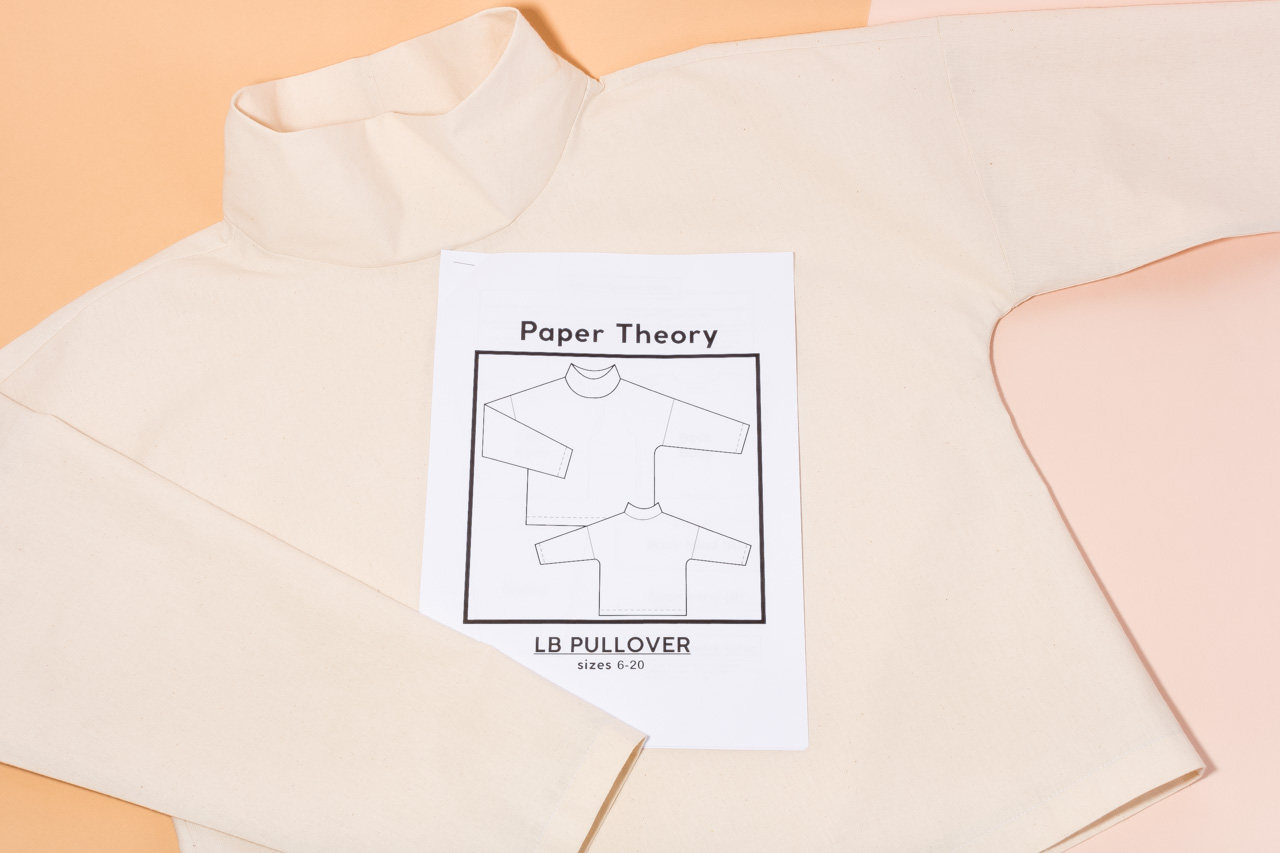 Assembil Blog: The Paper Theory LB Pullover pattern. Toile with instructions, image 1.