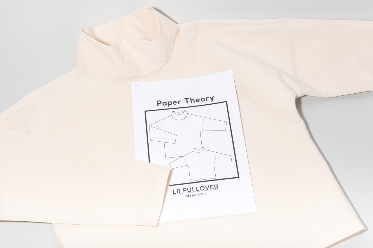 Assembil Blog: The Paper Theory LB Pullover pattern. Toile with instructions, image 2.